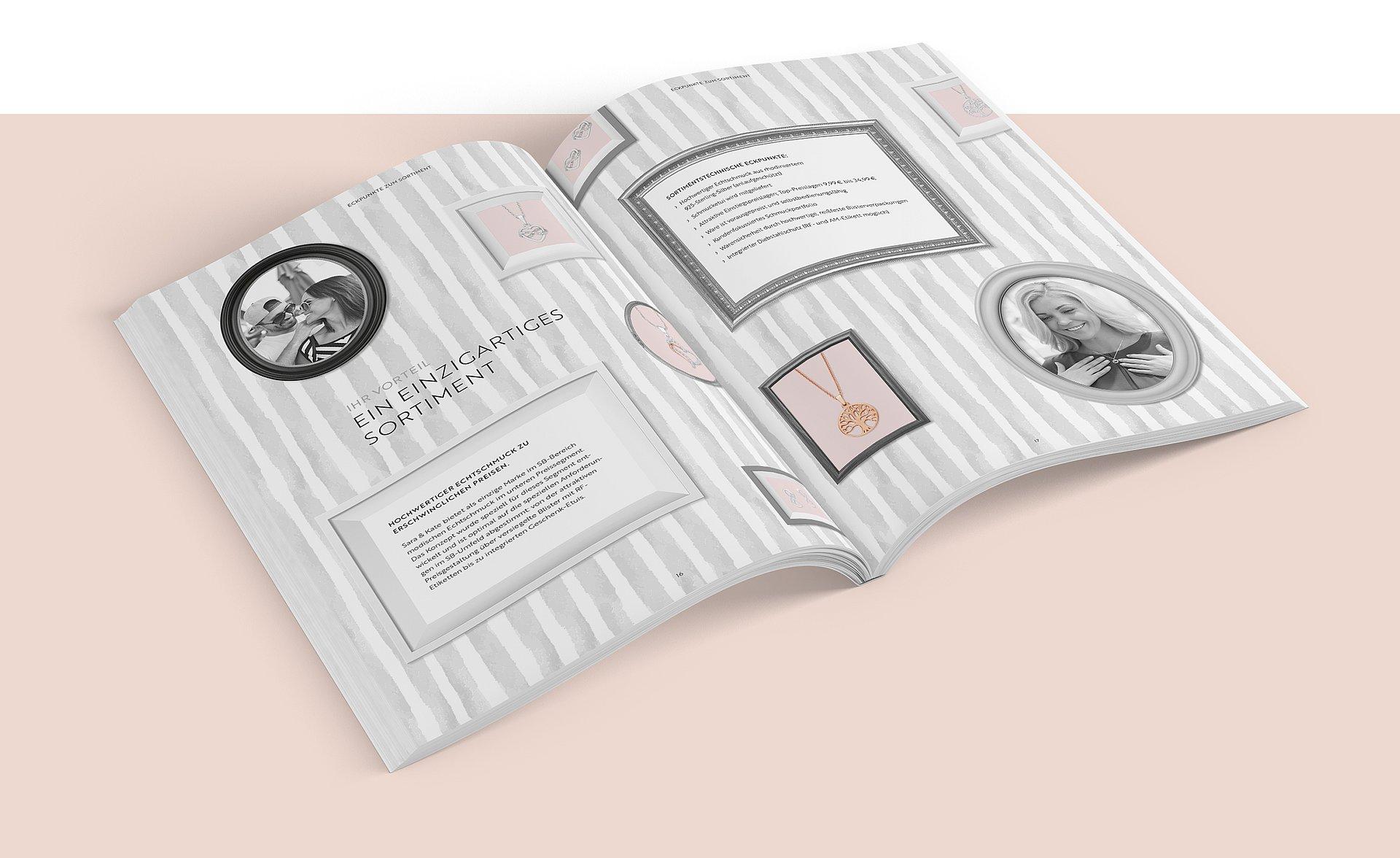 Amor Schmuckdesign – Vertriebsbroschüre mit Veredelung